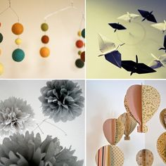 Love home made mobiles...plus it's so important to change them out.