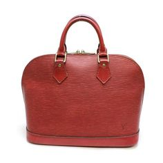 Louis Vuitton Alma  Epi Handle bags Red Leather M5214E
