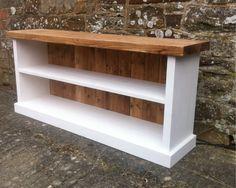 Chunky solid wood shoe bench shoe rack