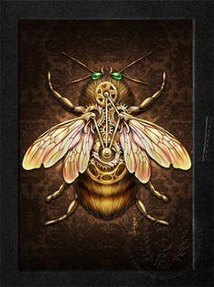 STEAMPUNK BEE Steampunk Bee Blank Book Journal by brigidashwood