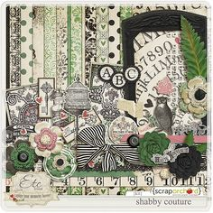 Love the colors in this! I like the sketched vintage elements in this kit specifically.