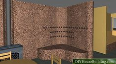 internal cob wall to store the heat