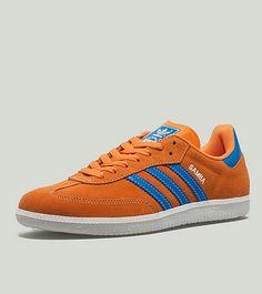 Cool Samba colourway in Orange suede / Bluebird leather trim - stunners!