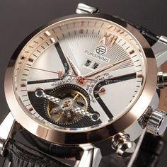 Mens Watches Top Brand Luxury Automatic Watch Golden Case Calendar