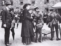Royal Dublin Fusiliers searching civilians 1916