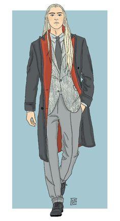 Modern Hobbit Characters by Kaye Magistro: Thranduil
