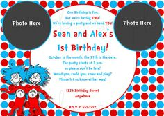 Custom Dr Seuss Inspired Thing 1 Thing 2 By Lullabiesnlaughter