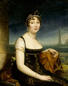 Caroline Murat; Napoleon's sister and, briefly, Queen of Naples. Her portrait is in the drawing room at Attingham Park.
