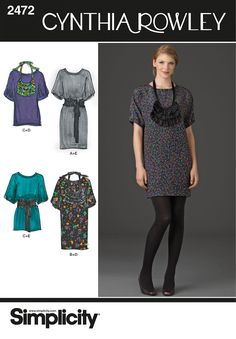 Dress and Tunic Cynthia Rowley pattern 2472 Simplicity would be super cute in Royal Garden in Clay from Belle
