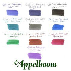 Buy Graf von Faber-Castell Ink - Ink Sample (10 colors)
