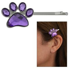 Purple Paw Crystal Hairpin at The Animal Rescue Site