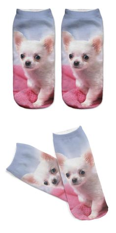 Unisex 3D Printed Cotton Socks Toldder Dog Printed Casual Style 19cm Low Anklet Socks Women Calcetines Chaussettes