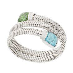 Turquoise and Jade Bracelet