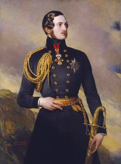 *PRINCE ALBERT (Birth name:Albert Francis Charles Augustus Emmanuel of Saxe-Coburg-Gotha) born on Aug 26, 1819,at Schloss Rosenau,in Bavaria.He was the younger son of the duke of Saxe-Coburg-Gotha,who divorced Albert's mother on grounds of adultery when Albert was 7 yrs old.He attended the University of Bonn in Germany+in 1840,when he was 20,he married his cousin, Queen Victoria,who had inherited the throne of England just a few years earlier.
