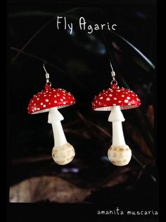 """The Fly Agaric is one of the most easily recognized mushrooms. It is known to be poisonous but with hallucinogenic effects. There are many color variations of the Fly Agaric including a yellow cap with white spots.   Dimensions: 1.5"""" L"""