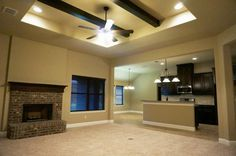 Living room and kitchen, Open concept living #mcbeehomes