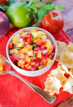 Authentic Peach Pico de Gallo