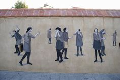 Hyuro New Mural For Biennale d'art contemporain de Perpignan '13 - France