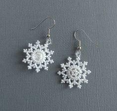 Схемы: Серьги-снежинки.