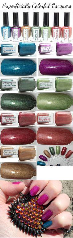Superficially Colorful Lacquers. So pretty!