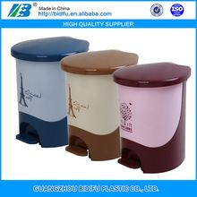 kitchren waste bin with cover made in guangzhou hospital use rubbish dustbin with pedal pedal dustbin price