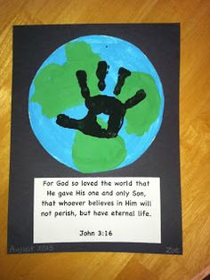 There's No School Like Homeschool: Earth Handprint Craft Tutorial