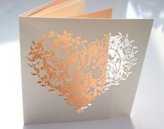 laser cut whimsical heart wedding invitations with initials!