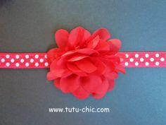 Red Valentines day Headband: baby headbands, newborn headband, infant headband, toddler headband, childrens headband