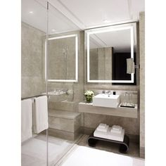 This illuminated mirror, made with the finest quality components, adds brilliance and style to any bathroom decor. You'll love the many features yet classic shape of this beautiful mirror. Available i