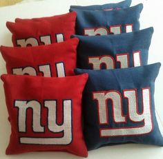 New York Giants HIqh Quality Embroidered Logo by USACornholeBags