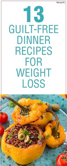 13 Guilt-Free Dinner Recipes for Weight Loss! #SkinnyMs