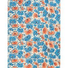 "Katazome Blue White Flowers Vines Fine Paper25 1/2"" x 19"""