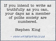 I'm exiled from polite society after I write this scene. #amwriting http://writers-write-creative-blog.posthaven.com/literary-birthday-21-september-stephen-king