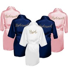 SALE Bridesmaid Robes Set of 7 - Bridal Party Robes - Bridesmaid Wedding  Gift - Robe - Personalized Satin Robes 26ec29643