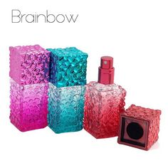 20ml Water Cube Design Empty Perfume Bottles Atomizer Spray Glass Refillable Bottle Spray Scent Case with Travel Size Portable