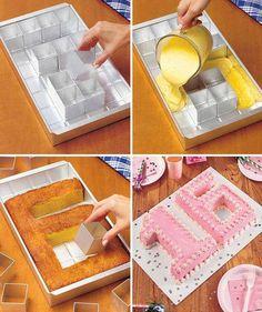 Moldes para tartas, diseño alfabeto y numeros