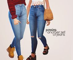 Another set of jeans at Puresims via Sims 4 Updates