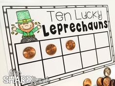 St. Patrick\'s Day: Ten Lucky Leprechauns Freebie