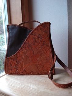 Tooled Leather Purse with Squirrel
