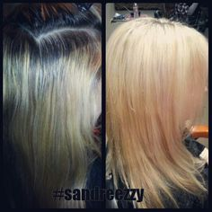 Blonde highlights retouch #sandreezzy #hairninja #salon2324