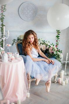 Rose Quartz vs Serenity: стилизованная съемка утра невесты