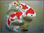 "Алмазная мозаика ""Японский карп"" 28 х 20 см, арт. N-235"