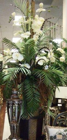 59 Ideas For Wedding Decorations White Flowers Floral Arrangements Tropical Floral Arrangements, Large Flower Arrangements, Artificial Floral Arrangements, Vase Arrangements, Artificial Flowers, Centerpieces, Exotic Flowers, Faux Flowers, Tropical Flowers