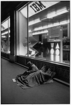 A sad image of every day life by Henri Cartier-Bresson