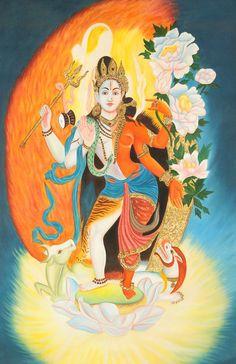 Shiva Ardhanarishvara (male and female).