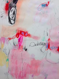 la goulue by Jenny Andrews-Anderson (mixed media on paper)