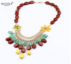 Min.order is $15 (mix order)New Design High-Quality Influx of Women small size acrylic beads Necklace Choker MN201350 $4.89
