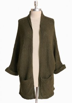 forestry sights open cardigan / ruche