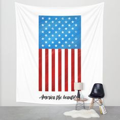 America the Beautiful Wall Tapestry by Noonday Design | Society6