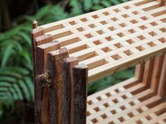 Seeing potential in wood processing waste material, Chialing Chang decided to design furniture and use it as a feature, giving way to Second Nature.